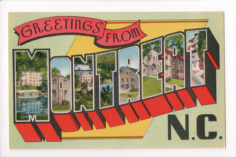 NC, Montreat - Greetings from, Large Letter - B17091