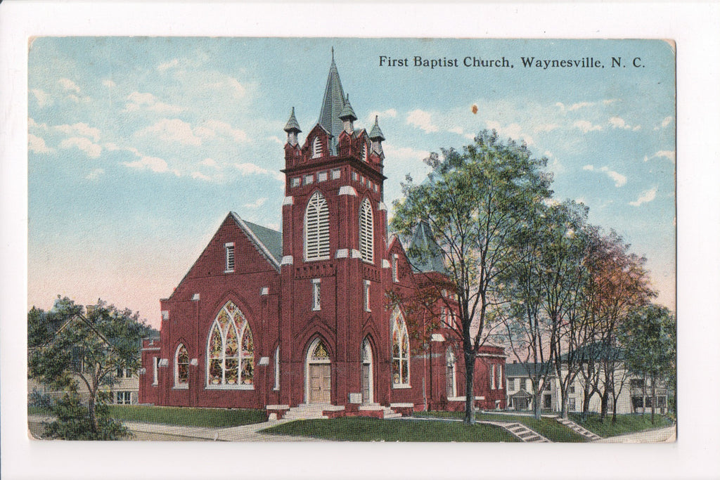 NC, Waynesville - First Baptist Church - D04290