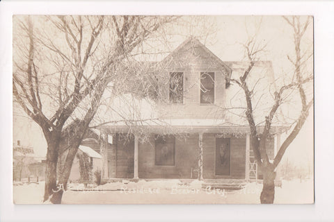 NE, Beaver City - A Gaddis Residence in winter - RPPC - R00326