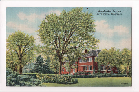 NE, Boys Town - Residential Section showing building - mailed in 1953 - J03104