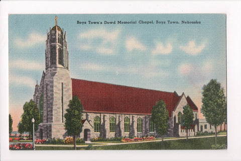 NE, Boys Town - Dowd Memorial Chapel linen card - MB0789