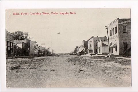 NE, Cedar Rapids - Main Street looking West, about 1914 - E09118