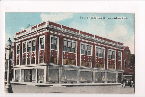 NE, Columbus - New Friedhof Block - @1922 postcard - NL0213