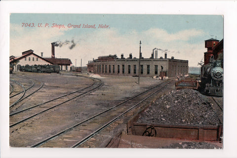 NE, Grand Island - U P Shops, Union Pacific yard?, coal, trains - C17266
