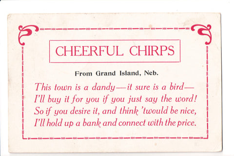 NE, Grand Island - Cheerful Chirps from, like a Greetings from card - G06044