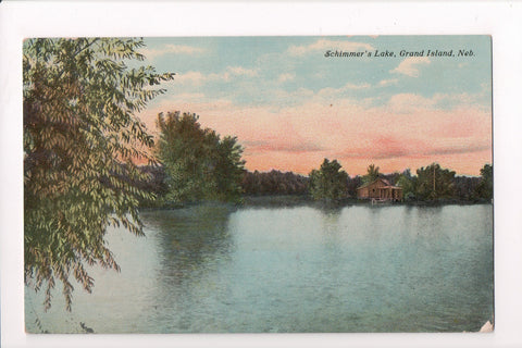 NE, Grand Island - Schimmers Lake - building at waters edge - SL2458