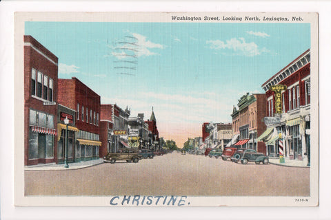 NE, Lexington - Washington Street, Moss Cafe - 1941 postcard - cr0389
