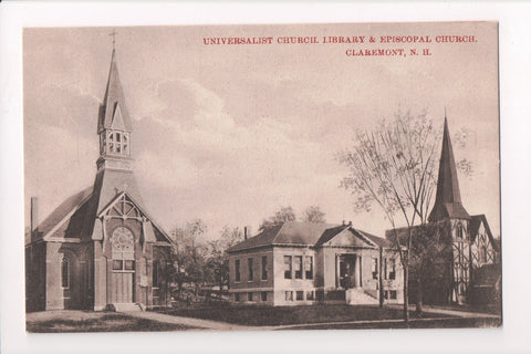NH, Claremont - Universalist and Episcopal Churches, library - w02343