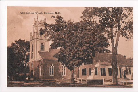 NH, Claremont - Congregational Church postcard - w02378