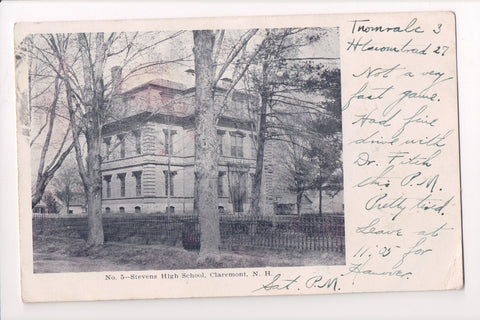 NH, Claremont - Stevens High School - postcard from 1906 - w02632