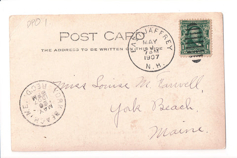 pm DPO - NH, East Jaffrey - 1907 cancel - Helbock S/I #1 - L03160