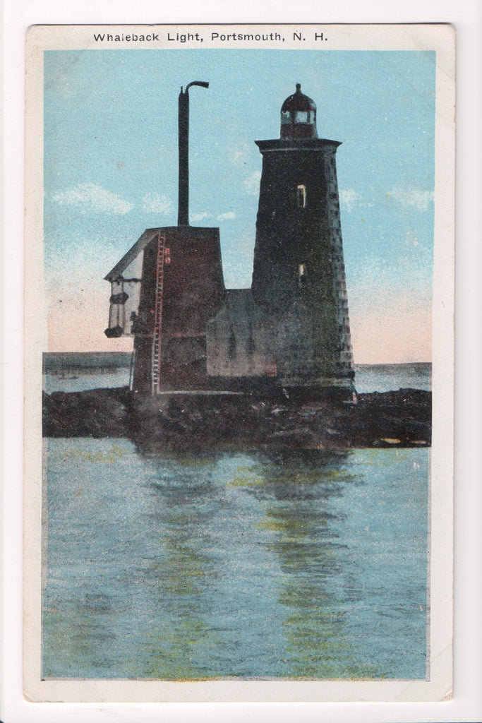 NH, Portsmouth - Whaleback Light, Lighthouse, Light House - A06711