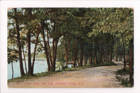 NJ, Asbury Park - Deal Lake - Lovers Lane - A09010