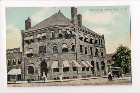 NJ, Asbury Park - Post Office postcard - A12587