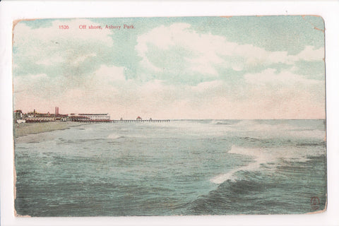 NJ, Asbury Park - Off shore view postcard - B04001