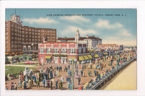 NJ, Asbury Park - Berkeley and Monterey Hotels - B17037