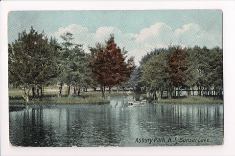 NJ, Asbury Park - Sunset Lake postcard - C17707