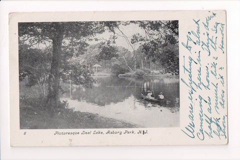 NJ, Asbury Park - Deal Lake, Picturesque view postcard - C17715