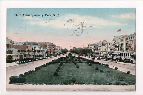 NJ, Asbury Park - Third Avenue postcard - w02720