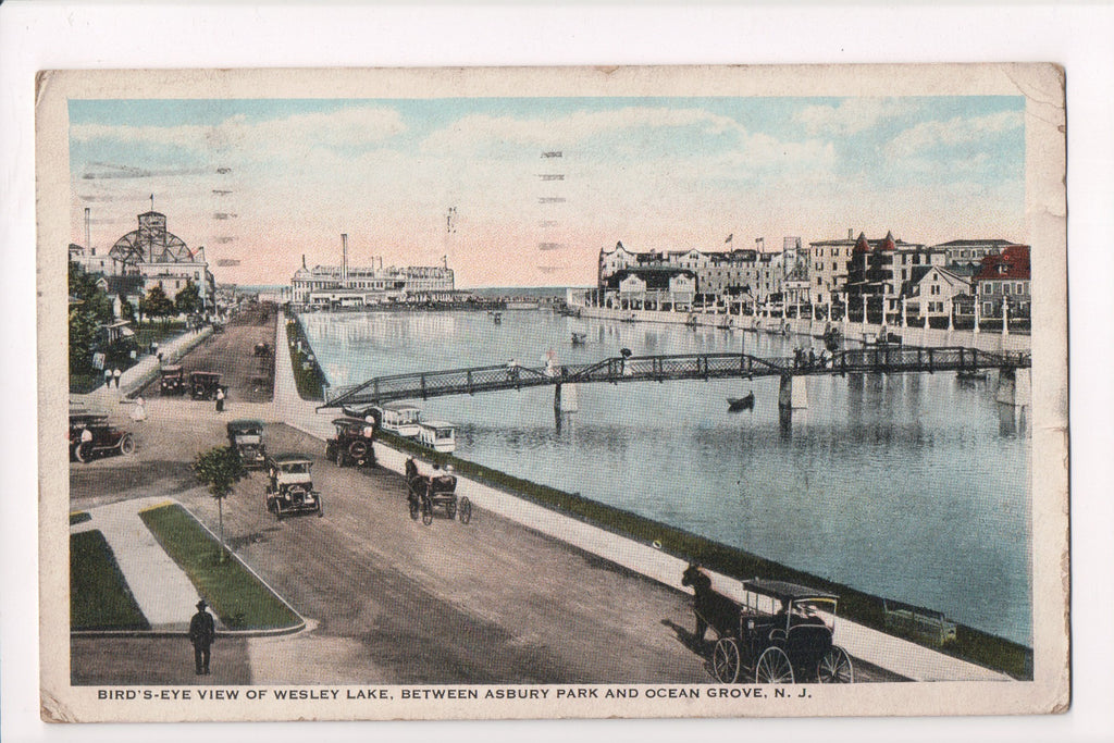 NJ, Asbury - Wesley Lake, bridge (ONLY Digital Copy Avail) - B17017
