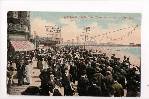 NJ, Atlantic City - Boardwalk, Keen Kutter Razor sign - CP0133