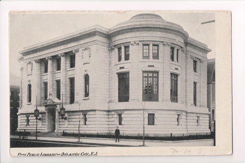 NJ, Atlantic City - Free Public Library postcard - CP0314