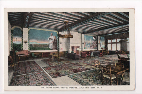 NJ, Atlantic City - Hotel Dennis, St Denis Room - CP0320