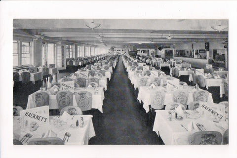 NJ, Atlantic City - Hackneys Sea Food Restaurant - interior postcard - D04183