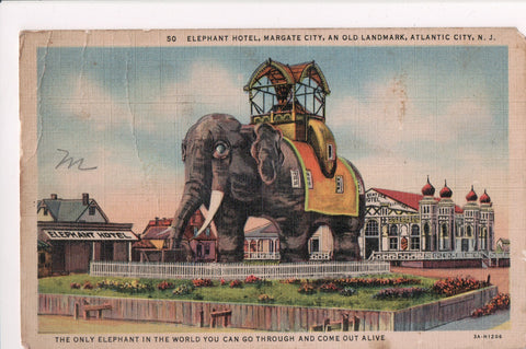 NJ, Atlantic City - Elephant Hotel, Margate City landmark - MB0031 **DAMAGED /