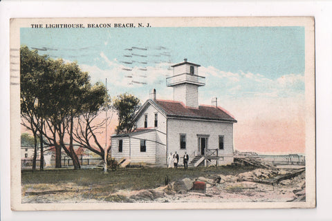 NJ, Beacon Beach - Light House, Lighthouse, people (ONLY Digital Copy Avail) - B17164
