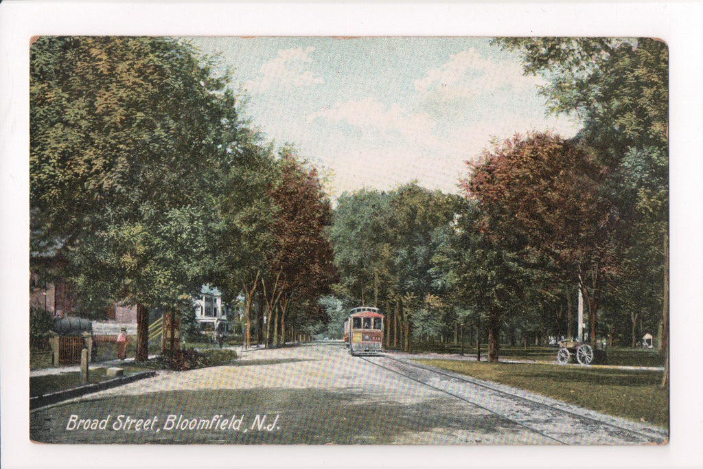 NJ, Bloomfield - Broad Street, street car (ONLY Digital Copy Avail) - B17008