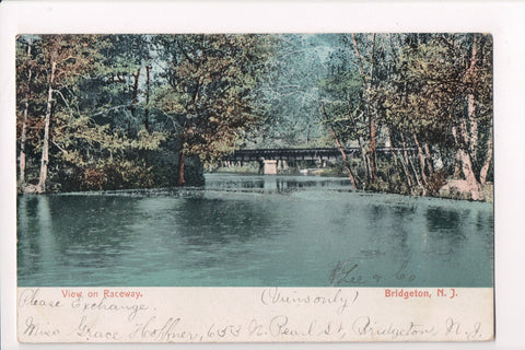 NJ, Bridgeton - View on Raceway - postcard mailed 1907 - J03100