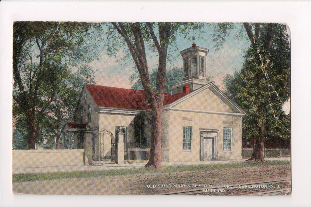 NJ, Burlington - Old Saint Marys Episcopal Church - w04823 - **DAMAGED / AS IS**