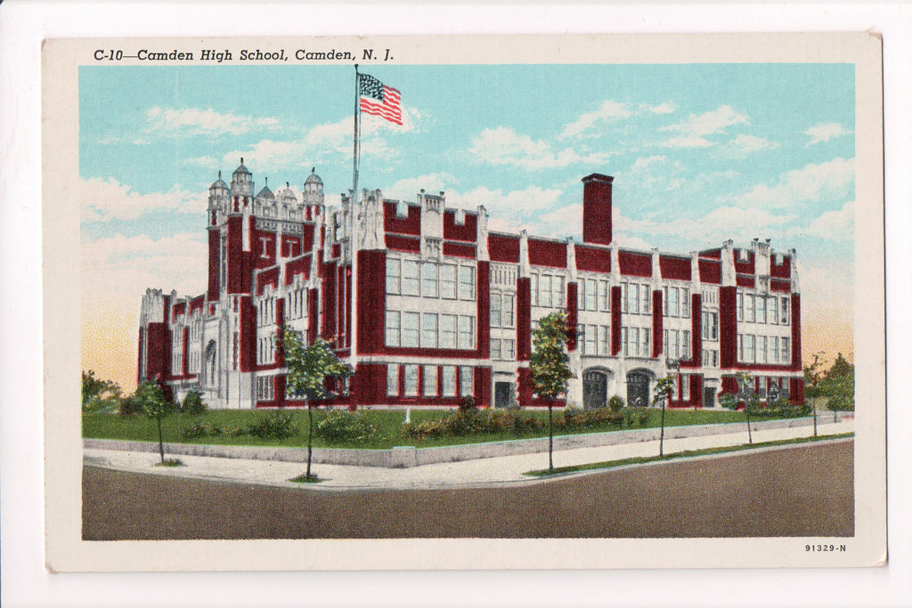 NJ, Camden - High School postcard - B17035