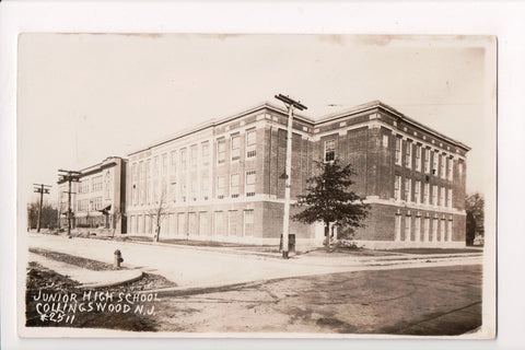 NJ, Collingswood - Junior High School - RPPC - R00308