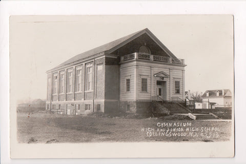 NJ, Collingswood - High and Junior High School Gymnasium - RPPC - R00309