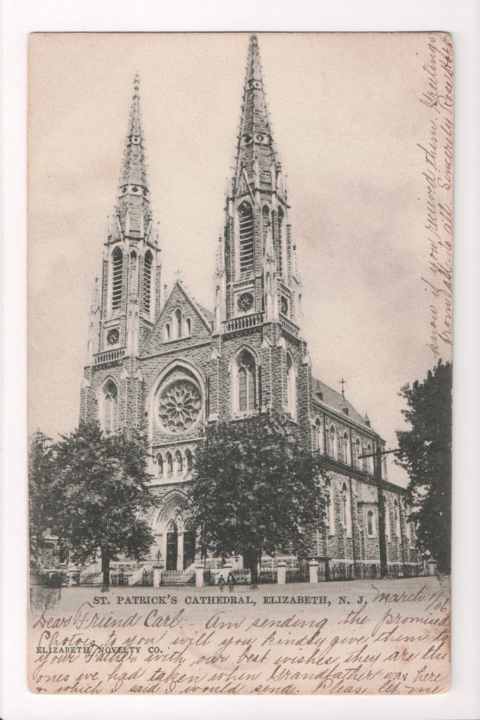 NJ, Elizabeth - St Patricks Cathedral postcard - CP0311