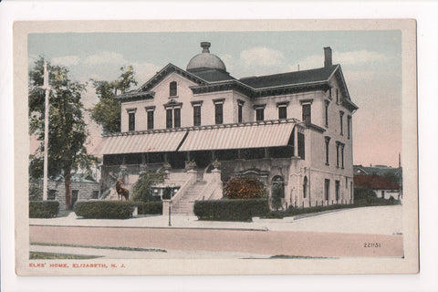NJ, Elizabeth - Elks Home closeup postcard - EP0078