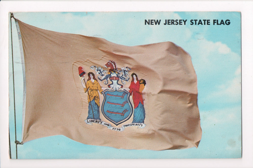 NJ, New Jersey - State Flag designed by Pierre Eugene Du Simitiere - G17085