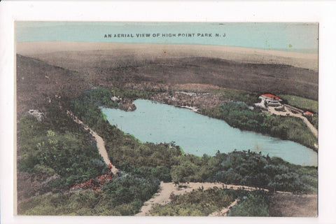 NJ, High Point Park - BEV of lake and area postcard - w05252