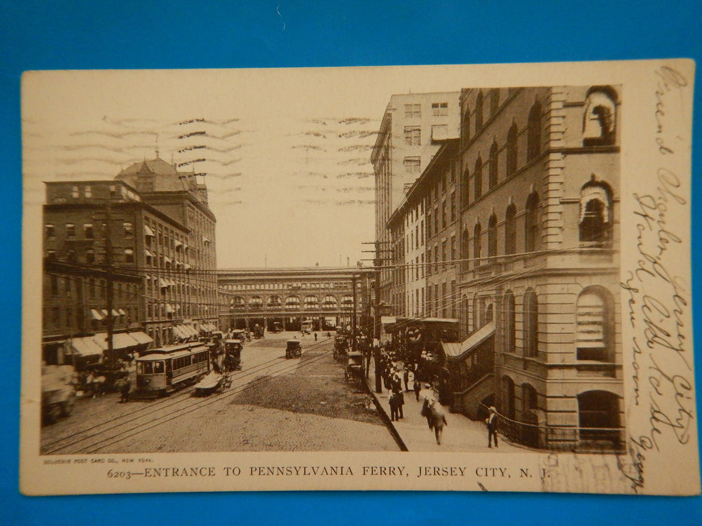 NJ, Jersey City - Entrance to Pennsylvania Ferry postcard - EP0014