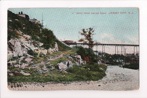 NJ, Jersey City - L Rd from Ravine Rd, RR Bridge (ONLY Digital Copy Avail) - C08730