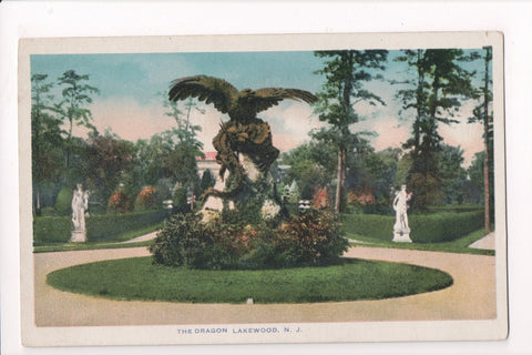NJ, Lakewood - Large Eagle with THE DRAGON in its talons - C17396