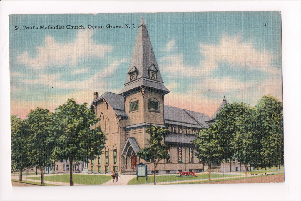 NJ, Ocean Grove - St Paul Methodist Church - B17036