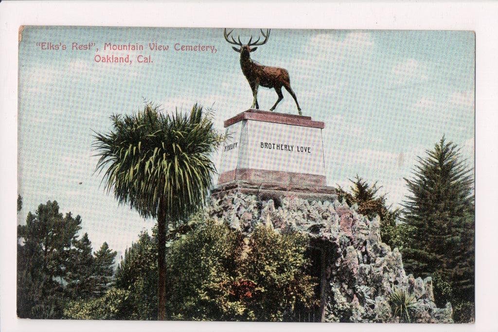 CA, Oakland - Mountain View Cemetery, ELKS REST - NL0081
