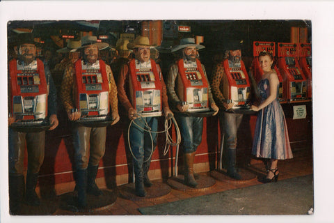 NV, Reno? - fake men w/Slot Machines in their chests, few others - NL0085