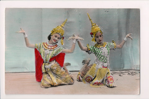 People - Female postcard - Pretty Woman - RPPC - Thai Classical Dance - NL0206