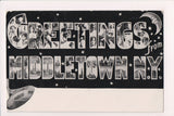 NY, Middletown - Greetings from - Large Letters postcard - NL0279