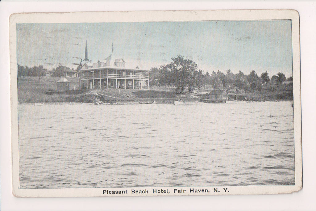 NY, Fair Haven - Pleasant Beach Hotel - 1923 postcard - NL0282