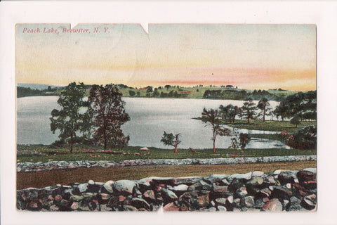 NY, Brewster - Peach Lake and shoreline - 1909 postcard - NL0326